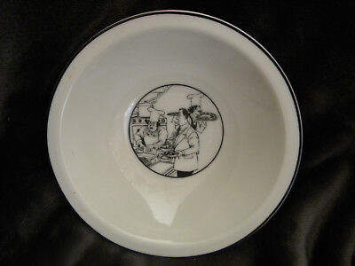 EPOCH LE RESTAURANT Rimmed Soup/Cereal Bowl/Black and White (Le Collection Rims)
