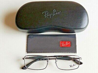 Brand New Ray-Ban Men's Rectangular GUNMETAL Prescription Eyeglass Frames!!!