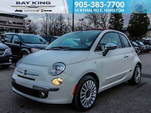 2017 Fiat 500C BLUETOOTH, PARK ASSIST, LEATHER HEATED SEATS, SOF