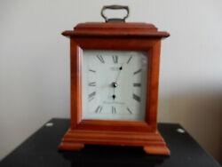 Seiko QXJ102BC Mantel Chime Carriage Clock Solid Wood Case