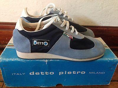 NOS Detto Pietro Niño Turismo Bicicleta Ciclismo Zapatos Zapatillas Azul Gamuza