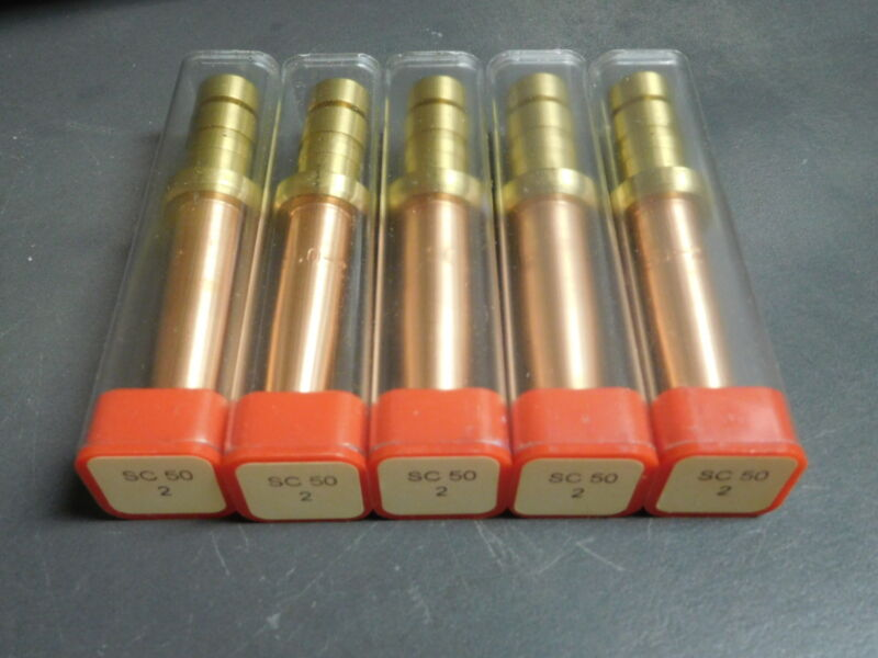 Lot of 5 Propane & Natural Gas Cutting Torch Tip for Smith Oxyfuel Torch  SC50-2