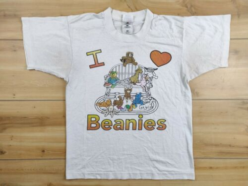 Vtg 90s I HEART BEANIES Babies T-SHIRT Youth L 14-16 Single Stitch USA 90s 1997