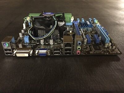 Asus p8h61-m le/csm r2.0 motherboard w/ 2.6 GHz cpu, 4gb ram and I/O