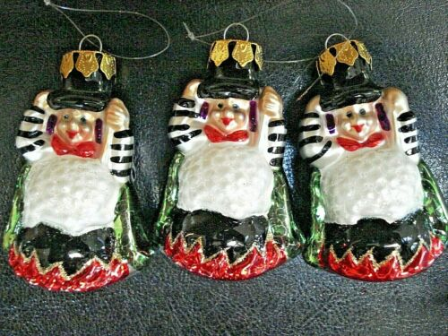 VINTAGE HAND BLOWN & PAINTED POLISH MERCURY GLASS HALLOWEEN Witch ORNAMENT 3
