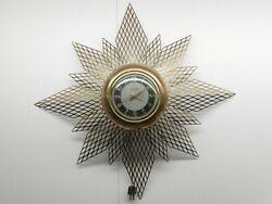 MASTERCRAFTERS MID-CENTURY MODERN RETRO STARBURST CLOCK. VINTAGE, COLLECTIBLE