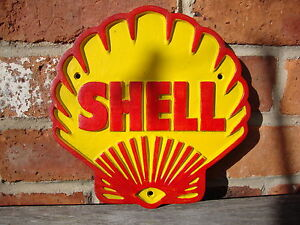 Shell Sign Shell Logo - Heavy gauge cast sign aluminium shell advert advertising
