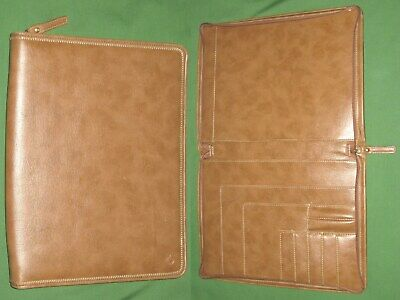 Monarch Brown Faux Leather Note Pad Franklin Covey Planner 8.5x11 Binder 6084