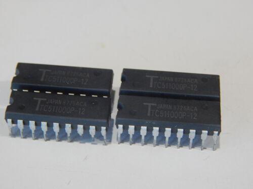 TOSHIBA TC511000P-12 Dynamic RAM Fast Page 1M x 1 18 Pin DIP - LOT OF 4 IC
