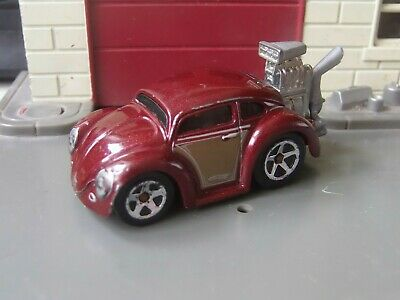 Hot Wheels VW Beetle Hot Rod - Dark Red - 1:64 Scale Die-cast Model Toy Car