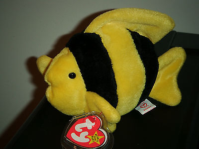 Ty Beanie Baby ~ BUBBLES the Fish ~ MINT with MINT TAGS ~ RETIRED