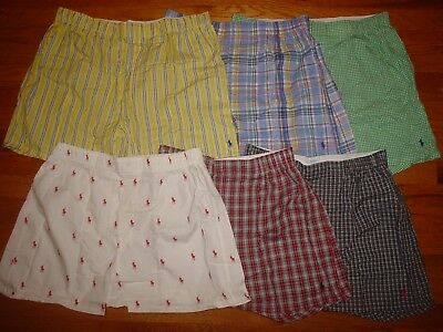 1 pair Polo Ralph Lauren Mens Cotton Woven Boxer Shorts S M L XL Classic Fit
