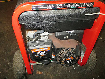 Troy Bilt Gas Generator Excellent 5550 115220v Low Hours