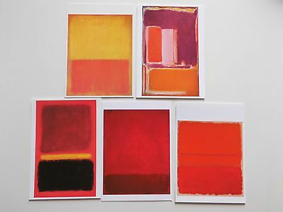 Mark Rothko.5 x.Postkarten.Red, No 5, Orange and Tan .No.18/ No.16