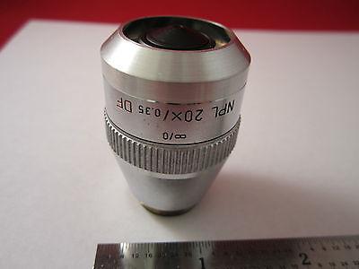 Leica Leitz Optical Microscope Part Objective Npl 20x Df Optics Binergolux