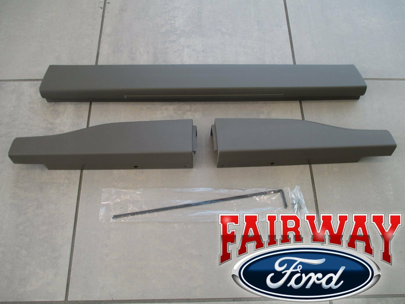 Ford F250 F350 Super Duty Tailgate Moulding Kit Set with Flexible Step New OEM