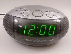 JENSEN JCR-332 AM/FM Stereo Alarm Clock Radio W/Top Loading CD Player