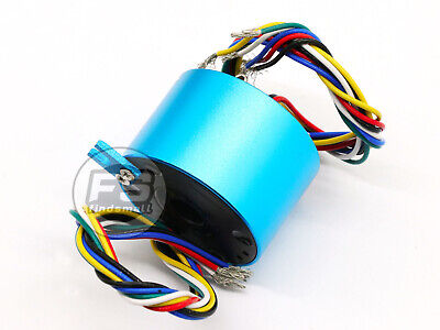 New 6wires 220v-380v 5a 12.7mm Dia Metal Capsule Conductors Slip Ring