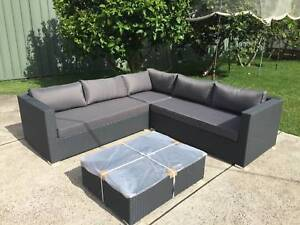 Outdoor Corner Wicker Rattan Sofa Set With Coffee Table Brand New Ryde Ryde Area Preview
