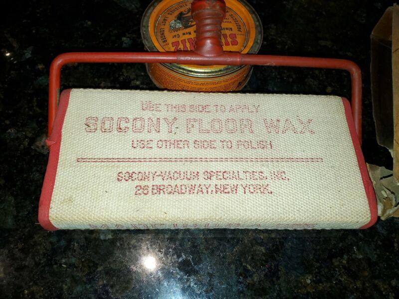 Antique Socony  Floor Waxer
