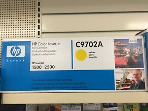 HP C9702A yellow toner