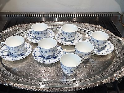 Lot Royal Copenhagen Blue Fluted Plane Cup And Saucer's 2164