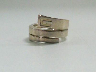 Auth GUCCI Silver Ring #12