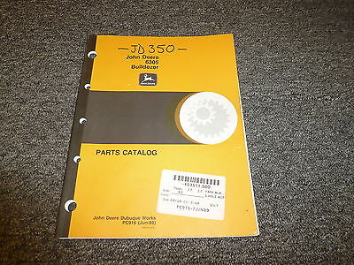 John Deere 6305 Bulldozer Dozer Tractor Parts Catalog Manual Pc916