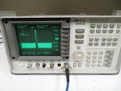 Hp Agilent 8563e Spectrum Analyzer 30hz - 26.5ghz W 85620a Memory Module Nm60
