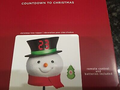 Hallmark Keepsake Count Down To Christmas Snowman Tree Topper New In Box