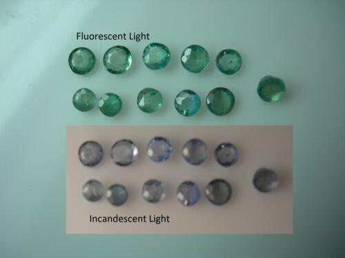 1.05ct Parcel rare NATURAL Alexandrite gems COLOR CHANGE Green Blue Purple India