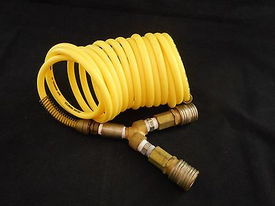 "COILHOSE PNEUMATICS Nylon 1/4"" (6.2mm) ID x 6' WL w/ 2 Quick Coupler & (Nylon Coilhose)"