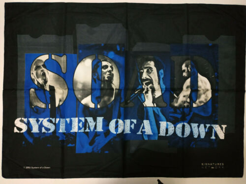Vintage  SYSTEM OF A DOWN   Unused  2002 TEXTILE POSTER FLAG