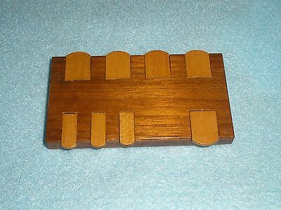 Vintage Mahogany & Satinwood PALL MALL Brand WHIST MARKER - Card Game - (Pall Mall Brands)