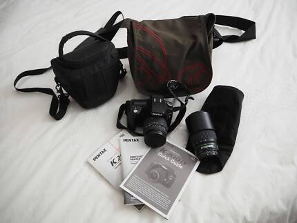 Pentax K200D Digital SLR with two lenzes and crumpler camera bag Miami Gold Coast South Preview