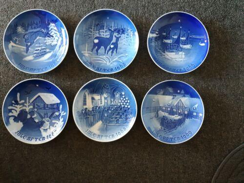 6 Lot 1964 1965 1966 1967 1968 1969 Jule After Bing Grondahl Christmas Plates