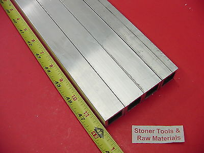 4 Pieces 1x 1x 18 Wall X 48 Long Aluminum Square Tube 6063 T52 1sq X .125