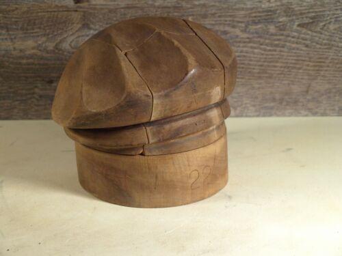 Antique Millinery Wood Hat Puzzle Block Mold Unsigned 6 Piece Size 22 Beret