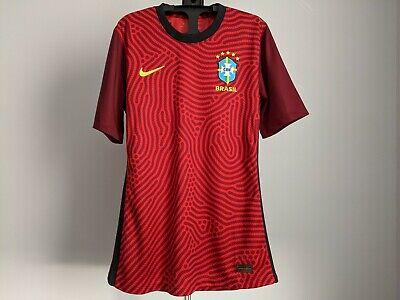 Nike Brazil CBF 2020 Player Issue Goalkeeper Soccer Football Jersey M CD8306-657 image