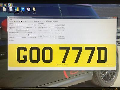 GOO777D GOOD CHERISHED PRIVATE NUMBER PLATE DVLA REG