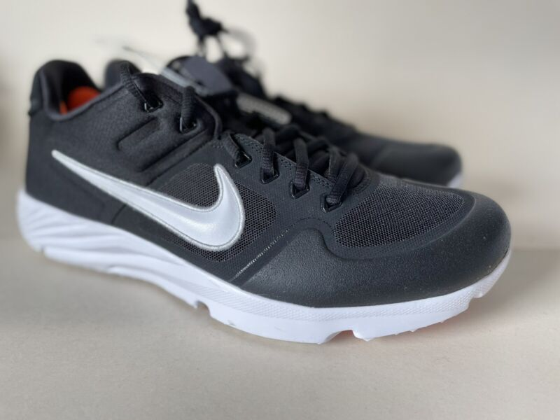 Nike Alpha Huarache 2 Turf Baseball Cleats AJ6877-001 Black golf Men