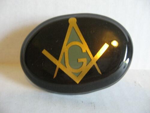Wooden Masonic Belt Buckle Masons Freemasons - Homemade?