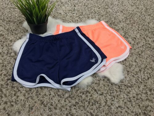 Justice Girl Sports Shorts Pants Sz 10 Lined Athletic Activewear Blue Pink White