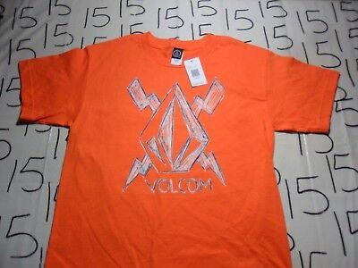(Youth Large- Orange Volcom Stone T- Shirt)