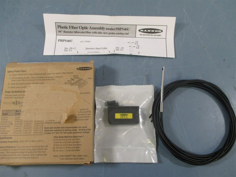 Banner PBPS66U Plastic Fiber Optic Cable - New