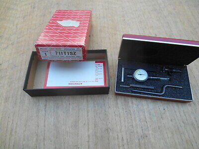 Starrett 711 T-1 Dial Indicator Last Word W Case Complete Set .0001 Usa