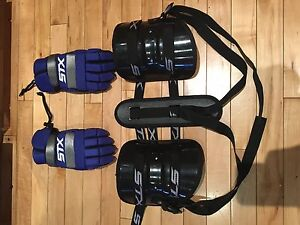 Lacrosse gloves and rib protector