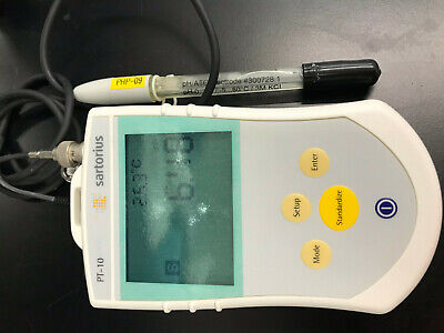 Sartorius Pt-10 Pt10 Portable Meter Ph With Probe