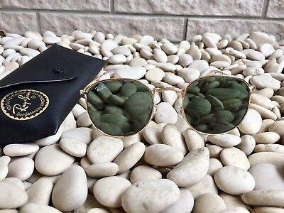Rayban Ray Ban Rb3447 Round Metal 001 Crystal Green   Gold 50 21Mm Sunglasses
