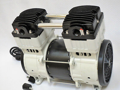 Oil-less Vacuum Pumptwin Piston 1hp 10cfm Pushpull Compressor Medical Sci Lab